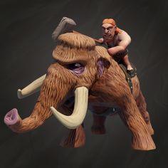 Mammoth Champion is one of the most powerful people. He is in fact stronger than the mammoth itself, so he can easily exercise authority over that furry creature.  Mammoth Champion to jeden z najpotężniejszych ludzi. Jest silniejszy od mamuta, dlatego bez problemu sprawuje władze nad tym futrzanym stworzeniem.  #MammothChampion #CavemenSpotlight