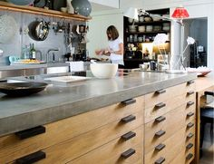 Lowinfo Design, polished concrete worksurfaces + kitchen worktops