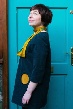 Skipper Tunic by Papercut Patterns with pocket detail.