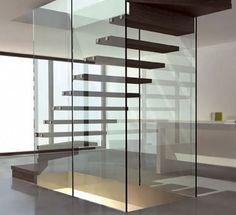 erstaunliche innovative treppen stufen holz glas geländer