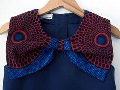 DRESS BO AFRICA Navy Blue Girl's Summer Dress by BENDITZ on Etsy