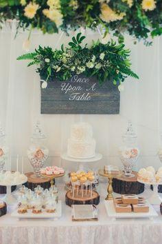 Dessert Table at a Wedding Reception #wedding #desserttable