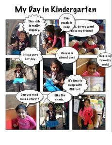 Love this ideas for using Strip Designer with Kinder to showcase the day.