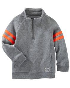 Kid Boy Fleece Pullover | OshKosh.com - Blusa de moleton sem zíper - tam 4 e 5 - um de cada tamanho.