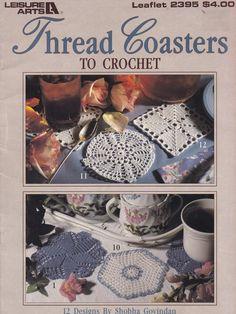 Thread Coasters to Crochet, Leisure Arts Crochet Pattern Booklet 2395