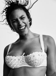 """love her expression. from """"The Best Lingerie Comes in All Sizes – Vogue"""""""
