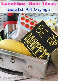 Easy and fun Lunchbox Note Ideas: Scratch Art Sayings for sending something sweet in your kids' back to school lunches!  - Melissa & Doug Blog #sponsored
