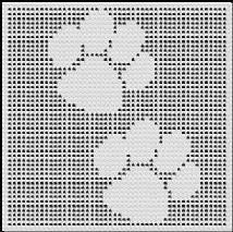 paw prints crochet afghan pattern Afghan Crochet Patterns, Crochet Squares, Crochet Afghans, Thread Crochet, Filet Crochet, Bubble Blanket, Unique Crochet, Knitting Charts, Learn To Crochet