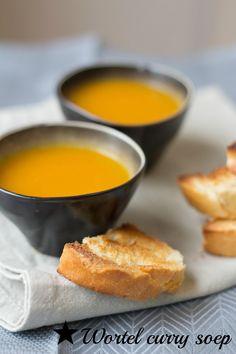 wortel curry soep, ipv curry heb ik garam massala genomen: lekker