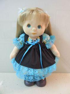 MATTEL MY CHILD DOLL Aussie Ash Blonde Ultra Long Aqua Peach Peach FULLY DRESSED