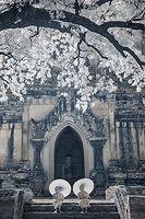 Nevada Wier: Myanmar. Bagan. Sulamani Temple. Young Monks. 2011