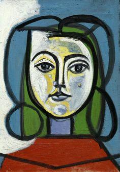 First Portrait of Jacqueline, 1952  Pablo Picasso —