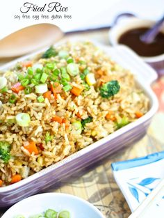Best Easy Fried Rice- A quick easy veggie fried rice in under 15 minutes with soy-free sauce