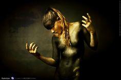 https://flic.kr/p/CnNVCZ | Apokalypse | facebook : www.facebook.com/freespiritcrew website : www.freespiritcrew.com #Apokalypse #Free #Spirit #instinct #Savages #Sauvage #black #or #noir #dark #gold #inkedskin #body #art #marginal #tattoo #tatouage #makeup #mua #body #painting #faceprinting #chaos