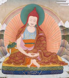 Santideva (685-763) His emergence from a monk with a reputation for laziness to 'bestseller' fame, even in his own day, reveals a tradition which values substance over form. Author of the ten chapters called The Way of the Bodhisattva, a beautiful and important work, a favorite of Patrul Rinpoche. KPSR, as well as HHDL, received teachings on the Bodhicaryavatara from Khunu Rinpoche.  In old Tibet, many monks would carry a small copy of this work somewhere on their person.