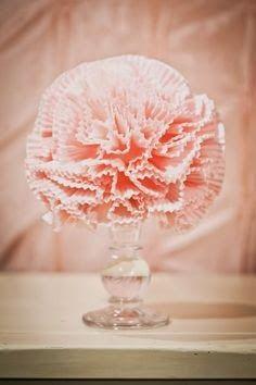 DIY - Faça Você Mesma: Topiária de Forminha de Cupcake