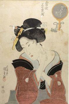 """Woman,"" by the very famous Japanese woodblock print maker Utagawa Kunisada."