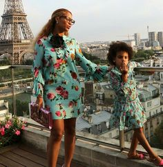 Blow me that kiss, Blue! Beyoncé x Blue. <3 #BeyoncéInParis