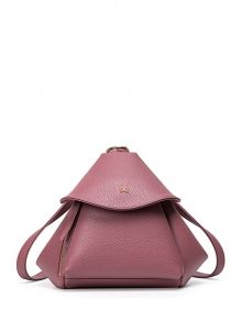 Bow Solid Color PU Leather Satchel