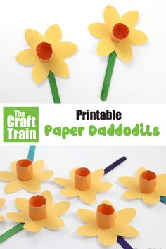 paper daffodils Printable paper daffodil craft for kidsPrintable paper daffodil craft for kids Spring Crafts For Kids, Easy Crafts For Kids, Toddler Crafts, Preschool Crafts, Easter Crafts, Art For Kids, Fun Crafts, Arts And Crafts, Daffodil Craft