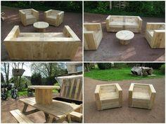 idée de meubles de jardin en palettes de bois