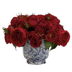 Mixed Red Roses in Cachepot ,  , large
