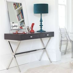 Mock croc console table. Would love this somewhere in my house #table #console #wood