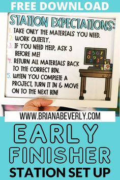 Early finisher math station for 2nd-3rd grade elementary students. Set up an early finisher area this summer that you won't need to touch again through the school year! Great classroom organization and solution for the elementary second grade classroom. Perfect teaching routine for back to school in the math classroom. Classroom Routines, Math Classroom, Classroom Organization, Math Stations, Math Centers, Autumn Activities, Fun Activities, New School Year, Back To School