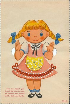 sewing cards you can print also paper dolls.... love