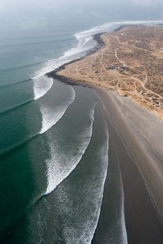 Surf lines at Scorpion Bay, San Juanico - sandy beaches extend for more than 20 miles, south to Punta San Gregorio. Baja California | Mexico