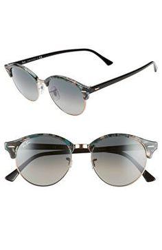 2eb6ad17e61 RAY-BAN Designer Clubround 51mm Round Sunglasses