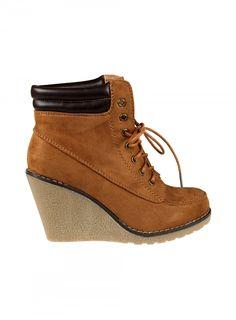 Pas Cher Chaussure Moins Cher Bottines Compensées à Lacets