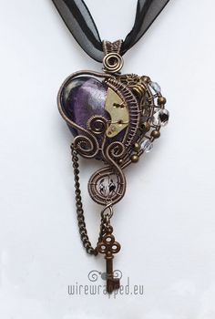 Steampunk heart necklace from Etsy