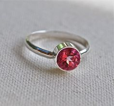 Pink Topaz Sterling Ring HOT HoT hOT by JLaurynDesign on Etsy, $89.00
