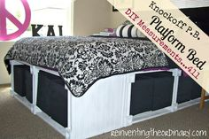 DIY Platform Bed....would be perfect for our bedroom for added storage...same for kids rooms.