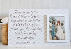 Sister Of The Bride Gift - Bridesmaid Gift - Personalized Wedding Gift For…
