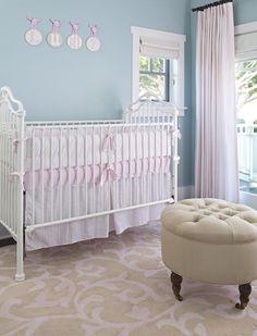 Romantic Nursery featured on Project Nursery  #laylagrayce #nurserydesign
