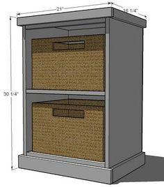 Modular Office - Narrow Open File Base
