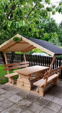 Items similar to Patio Table & Bench with cooler - Patio Gazebo on Etsy - Garden furniture, which will not only serve as a simple table, but at the same time you can always -