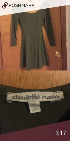 Army green dress Never worn in great condition! Charlotte Russe Dresses Asymmetrical