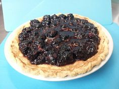 Blackberry Buttermilk Pie, fresh from Chef O's oven