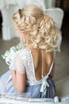 wedding hairstyles for open back dress