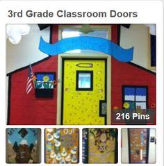 Classroom door decoration--The Little Red School House… Preschool Door Decorations, Classroom Decor Themes, Classroom Walls, Classroom Bulletin Boards, School Decorations, Preschool Classroom, Classroom Ideas, Preschool Ideas, Kindergarten Door