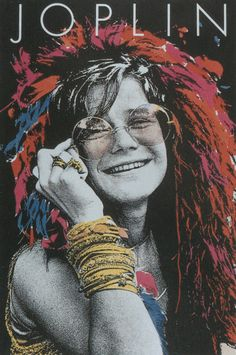 American Hippie Classic Rock. Janis Joplin, c.1968 (Image for In Concert album cover, 1972)