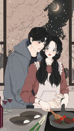 I believe that dreams come true because mine did when I met you. ❤❤❤❤ Welcome to free read the best romance stories on Cute Couple Drawings, Cute Couple Cartoon, Cute Couple Art, Anime Love Couple, Cute Drawings, Romantic Anime Couples, Anime Couples Manga, Cute Anime Couples, Anime Couples Cuddling
