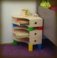 DIY bedside table for a child's room More ideas: https://en.ikea-club.org/ikea-lifehacks/frontpage.html