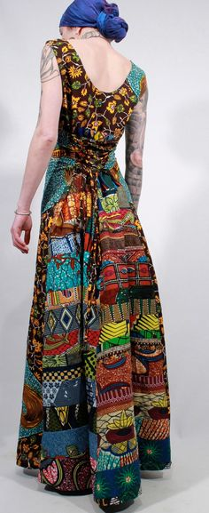 African wax print ethnic gypsy boho patchwork by ChopstixWaits
