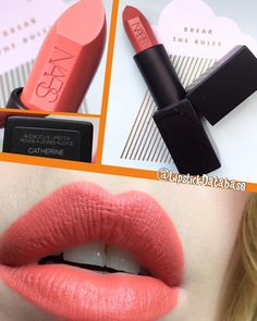 @LipstickDatabase on Instagram: Nars Audacious lipstick in Catherine Nars Audacious Lipstick Swatches, Makeup Swatches, Lipsticks, Makeup Goals, Makeup Tips, Wedding Lipstick, Lipstick Colors, Lip Gloss, Make Up