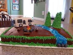 RV camping cake....this is Ty's choice for Ash to make him for his birthday!!!