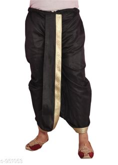 Dhotis, Mundus & Lungis Trendy Men's Ethnic Dupion Solid Dhoti Fabric: Dupion  Size: Up To 28 in To 36 in (Free Size) Type: Stitched Description: It Has 1 Piece Of Men's Dhoti Pattern: Solid Country of Origin: India Sizes Available: Free Size   Catalog Rating: ★4 (327)  Catalog Name: Elegant Larwa Men's Ethnic Dupion Solid Dhotis Vol 5 CatalogID_112335 C66-SC1204 Code: 474-951053-0321